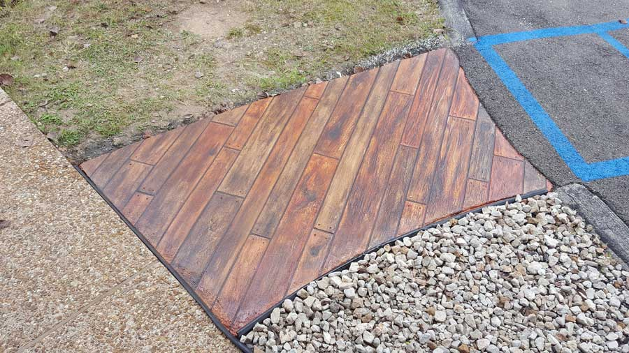 Rustic Concrete Wood | Lake Ozark Missouri | Custom Concrete Design